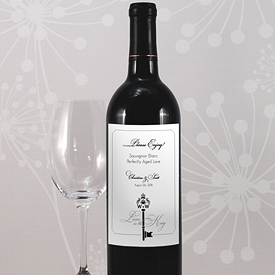 Key Monogram Wedding Signature Wedding Wine Label