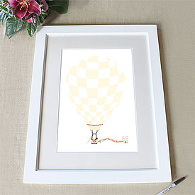 Hot Air Balloon Banner Signature Wedding Certificate