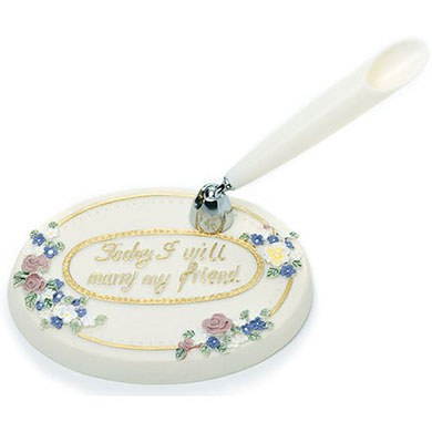 Spring Colors Floral Oval Base Wedding Pen set