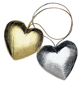 Heart Wedding Ornaments
