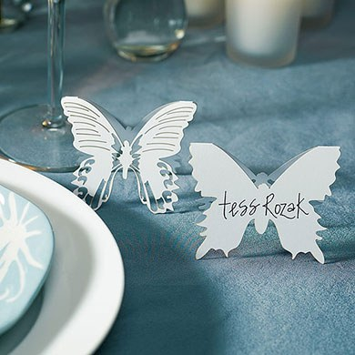 Laser Cut Butterfly Wedding Place Card