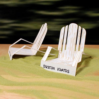 Laser Cut Deck Chair Wedding Place Card