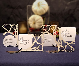 Branch Die-Cut Wedding Cards
