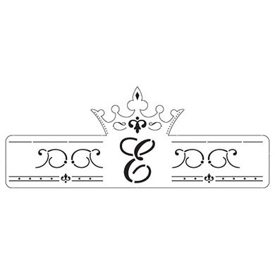 Laser Expressions Queen Crown Wedding Decorative Monogram Wrap
