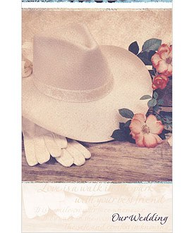 Western themed Wedding Bulletins