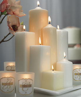 Square Pillar Wedding Candles