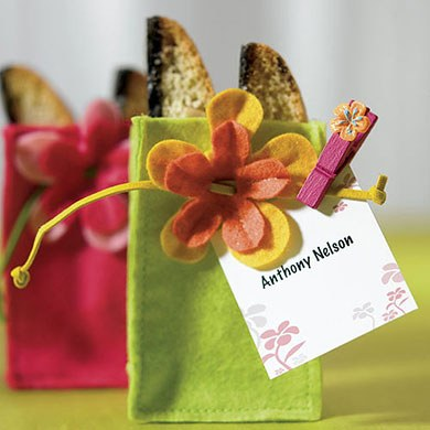 mini wedding felt gift favor bags