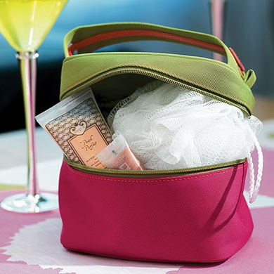 Designer Cosmetic Wedding Accessory Bag in Twill Polyester