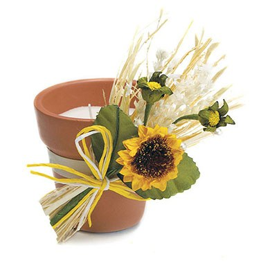 Yellow Sunflower Tied Mini Wedding Favor Bouquet Accessory