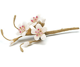 Sugared Cherry Blossom Wedding Favor Spray decoration