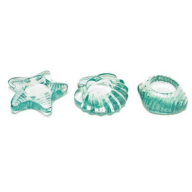 Sea Animal Glass Wedding Beach theme Candle Holders Accessory