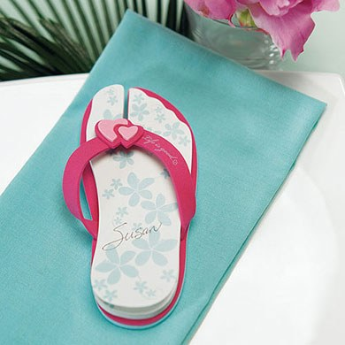 Flip Flop Wedding Favor Note Pads