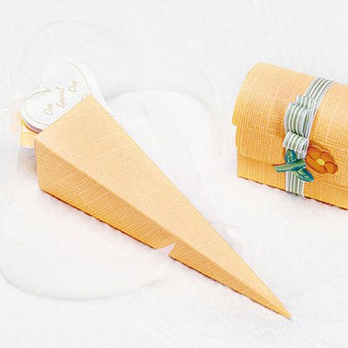 Orange Wedding Favor Boxes