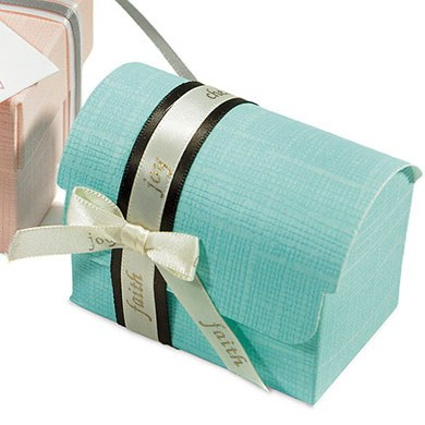 Aqua Blue Wedding Favor Boxes
