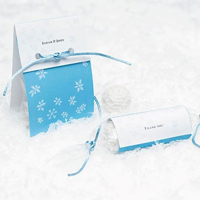 Winter Wonder Wedding Favor Wraps