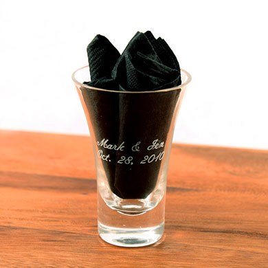 Flared Shot Glass Wedding Favors
