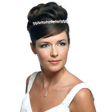 White Pearl Waves Wedding Bridal Tiara