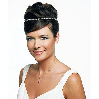 Braided Rhinestone Wedding Hairpiece