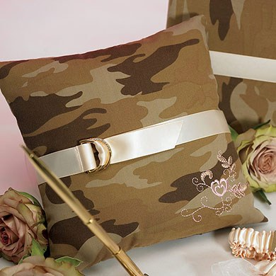 Camouflage Wedding Ceremony Ring Pillow Accessory