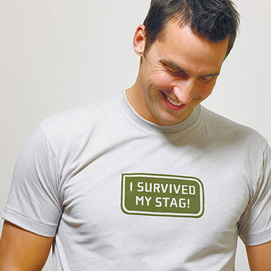 I survived my stag Wedding Iron on Accessory