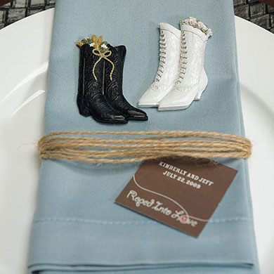 Western Boots Wedding Favor Magnets