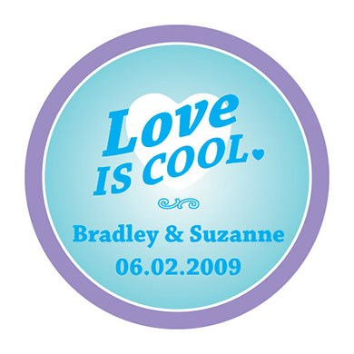 Wedding Favor Love is Cool Stickers