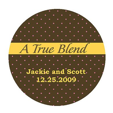 A True Blend Wedding Stationery Stickers