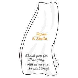 Beach Towel Wedding Favor Stickers
