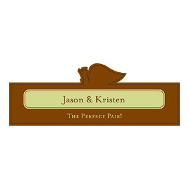 The Perfect Pair Wedding Favor Stickers