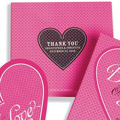 Playing Card Heart Shaped Wedding Favor Stickers