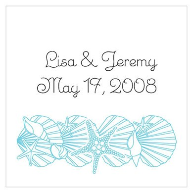 Simply Starfish Wedding Favor and Place Cards
