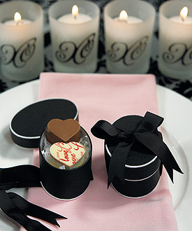 mini oval wedding favor gift box