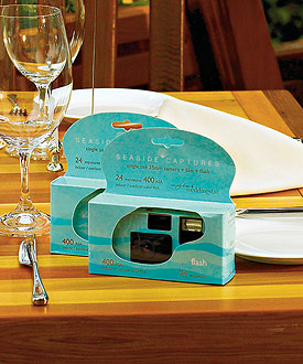 Beach Design Single Use Wedding Favor Camera
