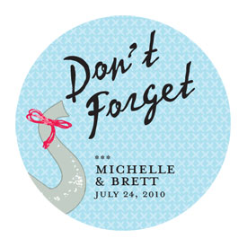 Don't Forget Elephant Wedding Favor Sticker