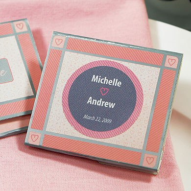 Nail File Wedding Favor Sticker