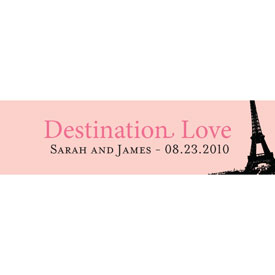 Destination Love Eiffel Tower Wedding Favor Card