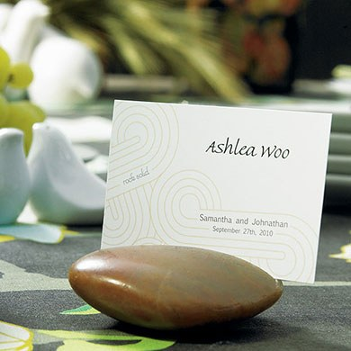 Rock Solid Wedding Reception Place Cards  double sided print
