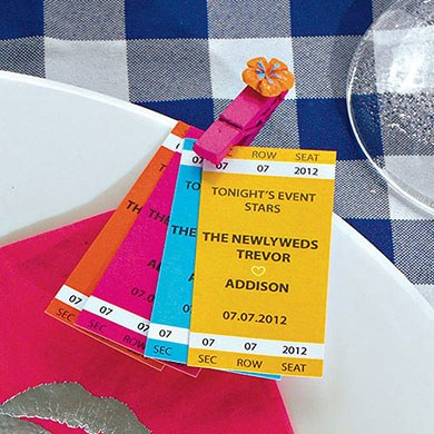 Sport Themed Wedding Drink Tickets
