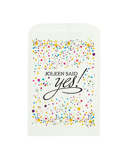 She Said Yes! Printed Flat Pocket Goodie Bag