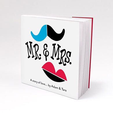 Mr. & Mrs. - A Story of Love Personalized Book Style Wedding Favor Notepad