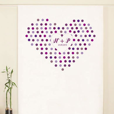 Rainbow Heart Personalized Wedding Photo Booth Backdrop