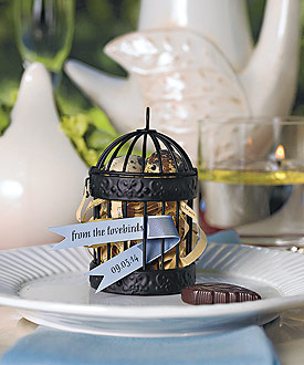 miniature wedding favor birdcages