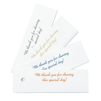Classic Confetti Wedding Favor Cards