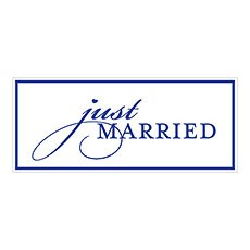 Just Married License Plate