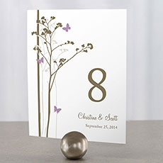 Romantic Butterfly Table Number