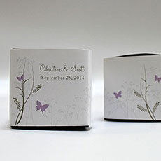 Romantic Butterfly Cube Favor Box Wrap