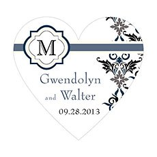 Lavish Monogram Heart Sticker