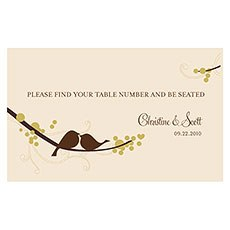 Love Bird Table Sign Card