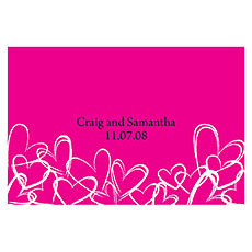 Contemporary Hearts Large Rectangular Tag