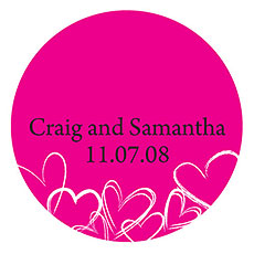 Contemporary Hearts Small Sticker